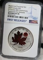 2020 CANADA $5 MAPLE LEAF FRACTIONAL SET 40TH ANNIVERSARY SW