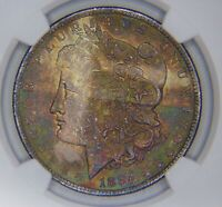 1884 O $1 MORGAN SILVER DOLLAR NGC MINT STATE 64 MONSTER TONED