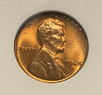 1948 D ANACS MINT STATE 67 RD LINCOLN WHEAT CENT GRADED CERTIFIED  STRIKE BU PENNY