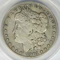 1901-S $1 MORGAN DOLLAR ANACS F12 DETAILS CLEANED