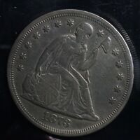 1873 SEATED LIBERTY SILVER S$1 ONE DOLLAR COIN