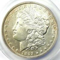 1893 MORGAN SILVER DOLLAR $1 COIN - CERTIFIED ANACS EXTRA FINE 45 EF45 -  DATE COIN