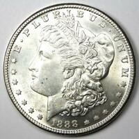 1888-S MORGAN SILVER DOLLAR $1 COIN -  DATE - UNCIRCULATED DETAILS UNC MS