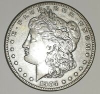 1904 S MORGAN SILVER DOLLAR, PHOTOS ARE WHAT YOU WILL RECEIVE, SHIPS FREE