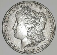 1892 P MORGAN SILVER DOLLAR, PHOTOS ARE WHAT YOU WILL RECEIVE, SHIPS FREE