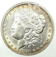 1879-CC MORGAN SILVER DOLLAR $1 CARSON CITY COIN CLEAR CC - CERTIFIED ANACS AU53