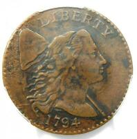 1794 LIBERTY CAP LARGE CENT 1C COIN - CERTIFIED PCGS EXTRA FINE  DETAIL EF -  COIN