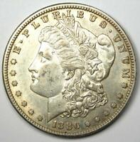 1886-S MORGAN SILVER DOLLAR $1 - CHOICE AU / UNC DETAILS -  DATE COIN