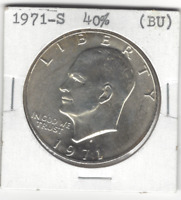 SILVER SPECIALLY MINTED S MARK 1971-S 40 EISENHOWER SILVER DOLLAR 097