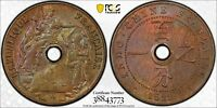 FRENCH INDO CHINA 1922 A CENT PCGS MINT STATE 64BN LEC-85 PC0872 COMBINE SHIPPING<BR/><B