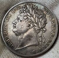 CROWN 1823 GEORGE IV 1ST PORTRAIT 2ND REVERSE GREAT BRITAIN