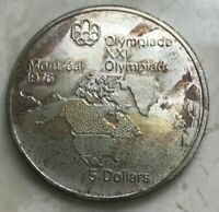 1973 CANADA 5 DOLLARS SILVER UNCIRCULATED   TONED