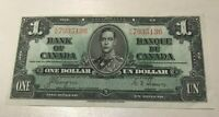 1937 CANADA 1 ONE DOLLAR   WORLD BANKNOTE CURRENCY