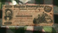1862 RICHMOND VIRGINIA 50 DOLLARS $50 NOTE CURRENCY   OBSOLETE CURRENCY