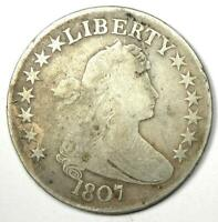 1807 DRAPED BUST HALF DOLLAR 50C - VG / FINE DETAILS -  EARLY COIN