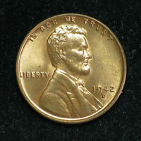 1942 D LINCOLN WHEAT CENT   BU RED   ITEM 1444