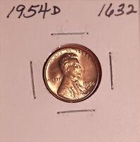 1954 D LINCOLN WHEAT CENT 1632, CHOICE-SHIPS FREE