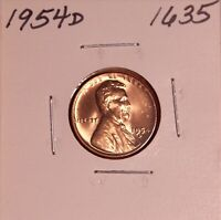 1954 D LINCOLN WHEAT CENT 1635, GEM-SHIPS FREE