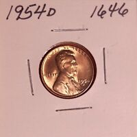 1954 D LINCOLN WHEAT CENT 1646, GEM - SHIPS FREE