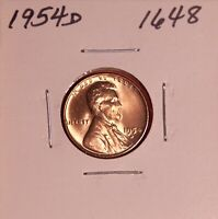 1954 D LINCOLN WHEAT CENT 1648 GEM - SHIPS FREE