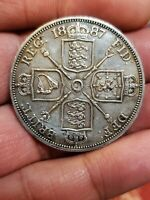 1887 SILVER GREAT BRITAIN DOUBLE FLORIN