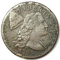 1794 LIBERTY CAP LARGE CENT 1C COIN   VF / XF DETAILS  CORROSION