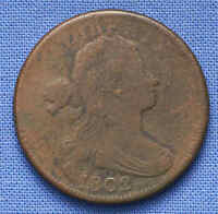 1802 DRAPED BUST LARGE CENT. GREAT DETAIL. NO RESERVE