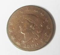 1820 U.S. LARGE ONE CENT   LIBERTY HEAD   CIRCULATED   SMALL