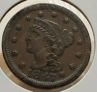 1847 BRAIDED HAIR LARGE CENT CIRCULATED