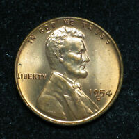 1954 D  LINCOLN WHEAT CENT   BU RED   ITEM 1806