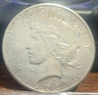 1926 S PEACE DOLLAR 90 SILVER STRONG AU COIN WITH FULL FEATHERS 16