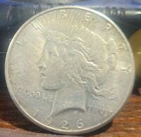 1926 S PEACE DOLLAR 90 SILVER AU/BU DETAILS CLEANED  17