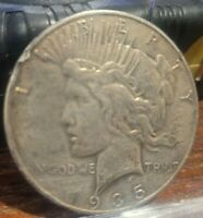 1935 PEACE SILVER DOLLAR - F/VF WITH RIM NICK - BETTER DATE  20