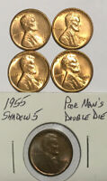 5 LINCOLN 1C TWO 1949-S & TWO 1955-S UNCS & 1955 POOR MANS DOUBLE DIE  LAST 5
