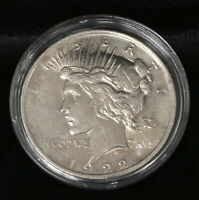 1922 PEACE DOLLAR COIN CIRCULATED W PLASTIC CASE