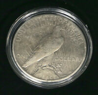 1927-S PEACE DOLLAR COIN CIRCULATED W PLASTIC CASE
