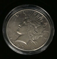 1923 PEACE DOLLAR COIN CIRCULATED W PLASTIC CASE