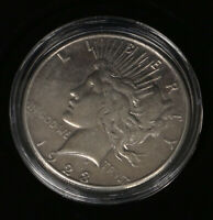 1935-S PEACE DOLLAR COIN CIRCULATED W CAPSULE AND  GIFT BOX