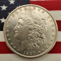 BEAUTIFUL DETAIL 1897-P MORGAN DOLLAR 1 DOLLAR SILVER
