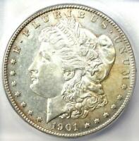 1901-S MORGAN SILVER DOLLAR $1 COIN - CERTIFIED ICG MINT STATE 61 UNC BU -