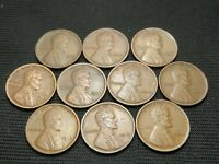 1910,1911,1912,1913,1914,1916,1917,1918,1919,1920  LINCOLN WHEAT CENTS F/VF/EXTRA FINE