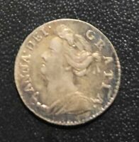 GREAT BRITAIN 1709 PENNY COIN:  QUEEN ANNE
