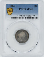 1803 DRAPED BUST 10C PCGS MINT STATE 61