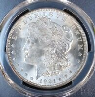 1921 MORGAN SILVER DOLLAR PCGS GRADED MINT STATE 64 VAM 41B PITTED AND POLISHED REVERSE
