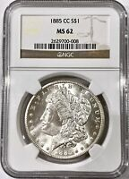 1885-CC CARSON CITY MORGAN SILVER DOLLAR NGC MINT STATE 62
