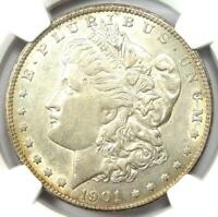 1901-S MORGAN SILVER DOLLAR $1 COIN - CERTIFIED NGC AU DETAIL - NEAR MS / UNC