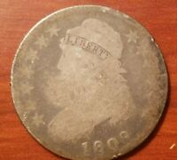 1809 CAPPED BUST HALF DOLLAR 50 CENTS SILVER COIN 1/2 $1 LOWBALL