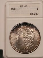 1889-S  MORGAN SILVER DOLLAR  ANA MINT STATE 63 - WONDERFUL, NEAR PROOF-LIKE REVERSE