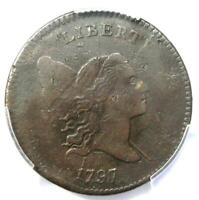 1797 LIBERTY CAP FLOWING HAIR HALF CENT 1/2C - PCGS EXTRA FINE  DETAIL EF -  COIN