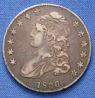 1836 CAPPED BUST HALF DOLLAR VF  NO RESERVE.